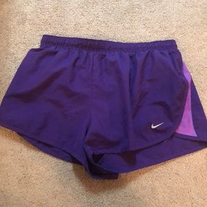 Nike purple Dri-Fit running shorts